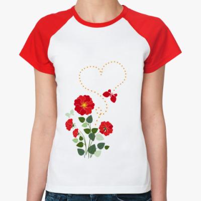 Женская футболка реглан Во саду ли, в огороде