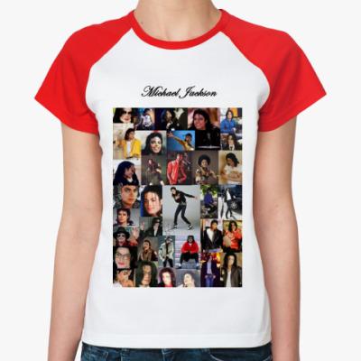 Женская футболка реглан Майкл Джексон