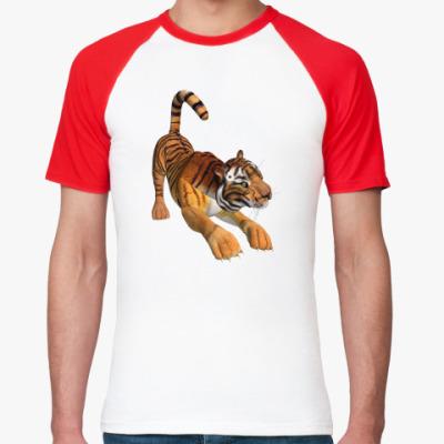 Футболка реглан 'Тигр-3D'