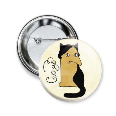 Значок 50мм Gogo из серии 'Writer cats'