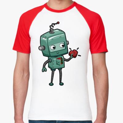Футболка реглан Робот с сердцем