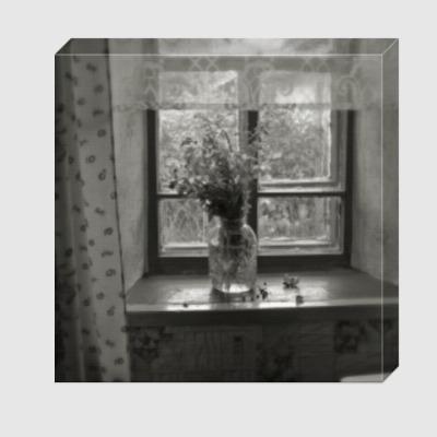 Холст Букет на окне