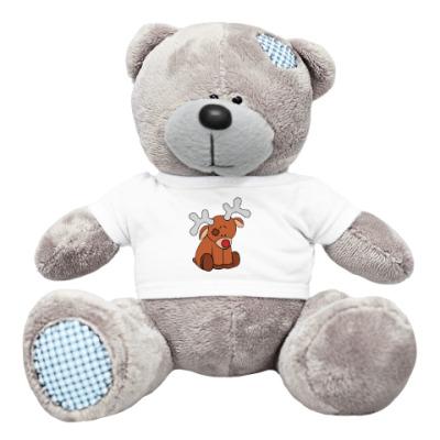 Плюшевый мишка Тедди Новогодний олень Teddy