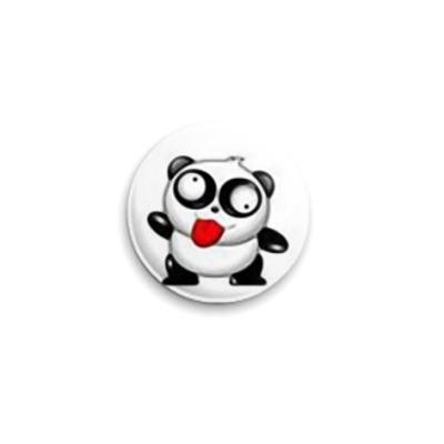 Значок 25мм  Crazy Panda