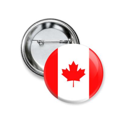 Значок 37мм Канада, Canada