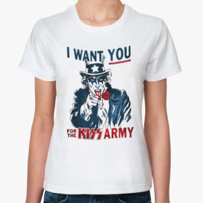 Классическая футболка Kiss