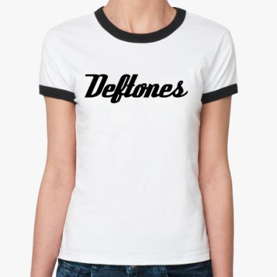 Женская футболка Ringer-T Deftones