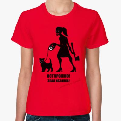 Женская футболка Злая хозяйка (Джек Рассел)