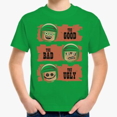 Детская футболка Лего - хороший, плохой, злой