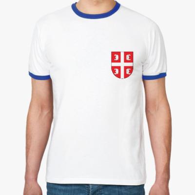 Футболка Ringer-T Сербский щит