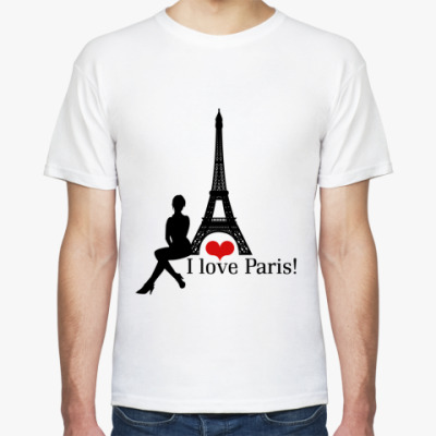 Футболка Я люблю Париж