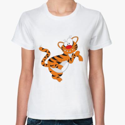 Классическая футболка Funny tiger