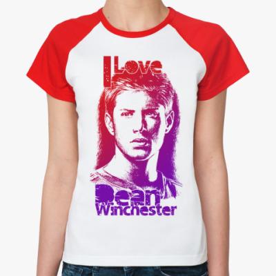 Женская футболка реглан Dean Winchester Ж(б/к)