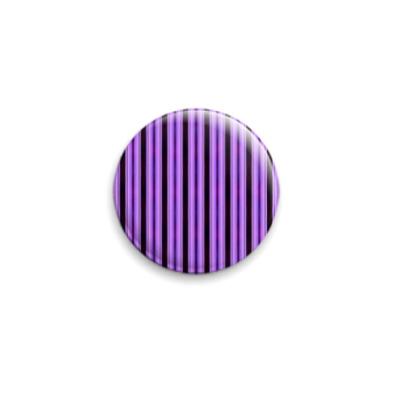 Значок 25мм  Purple Stripes