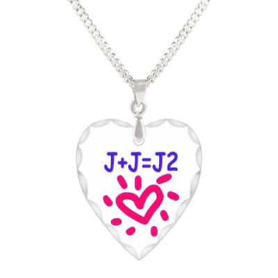 Кулон 'сердце' Supernatural Дженсен + Джаред