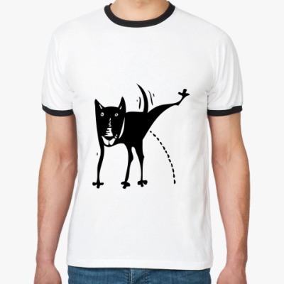 Футболка Ringer-T Писающая собачка