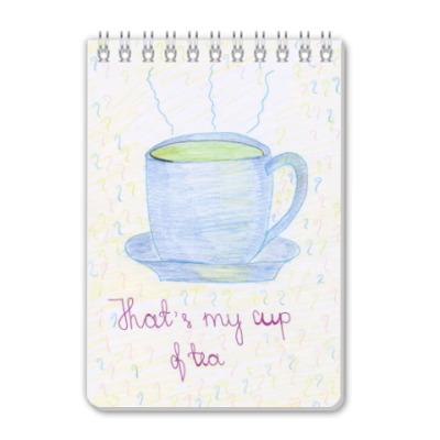 Блокнот 'Cup of tea'