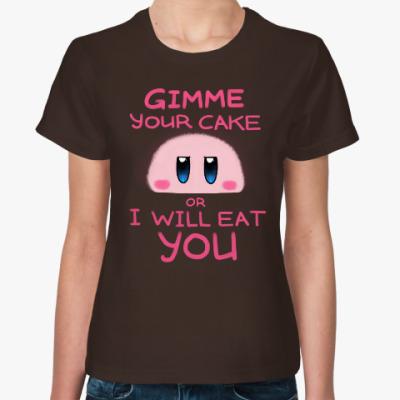 Женская футболка Kirby: Cake or Life
