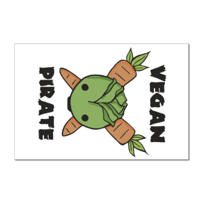 Наклейка (стикер) Веган пират