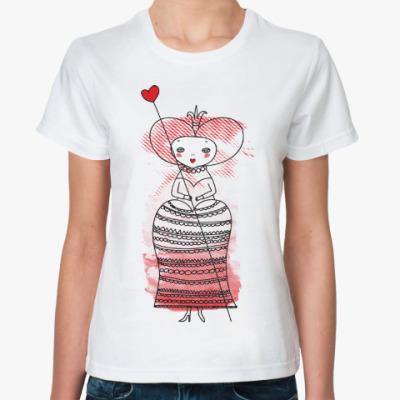 Классическая футболка Queen of Hearts, Alice's Adventures in Wonderland