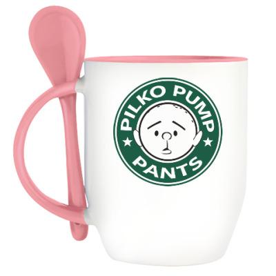 Кружка с ложкой Pilko Pump
