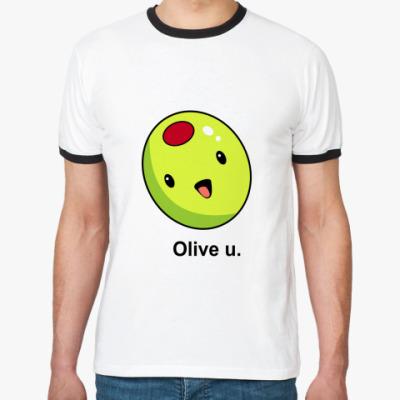Футболка Ringer-T Olive U
