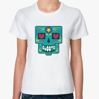 Классическая футболка Череп скелет