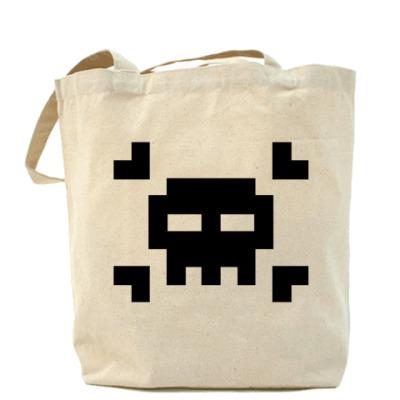 Сумка 8bit skull Холщовая сумка