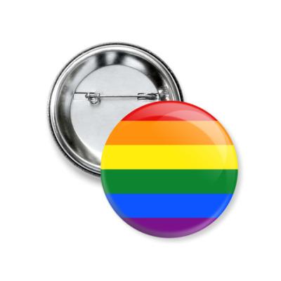 Значок 37мм ЛГБТ Радуга / LGBT Rainbow