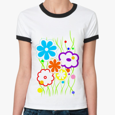 Женская футболка Ringer-T Лето