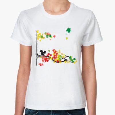 Классическая футболка  BubbleForest /Белка