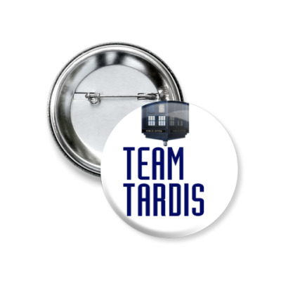 Значок 37мм Team Tardis