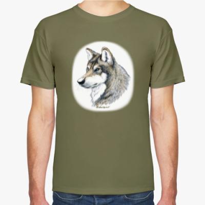 Футболка 'Лесной волк'