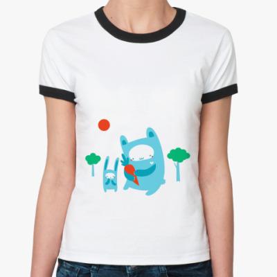 Женская футболка Ringer-T Куролики