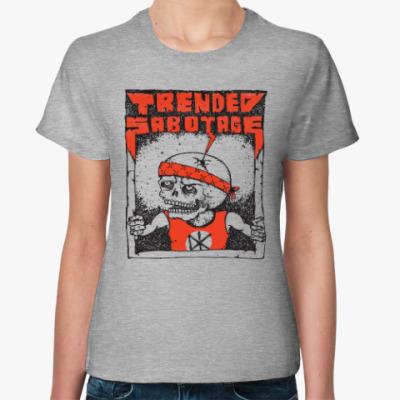 Женская футболка 'TxSx angry kid'