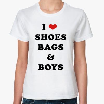 Классическая футболка I love