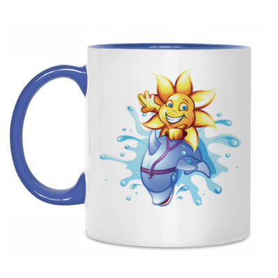 Кружка Солнце на дельфине