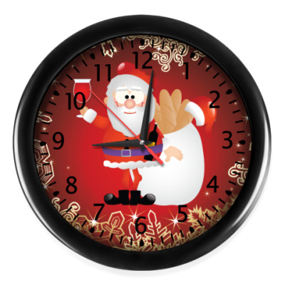 Настенные часы Дед Мороз 2012