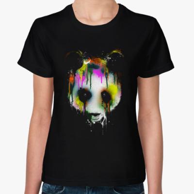 Женская футболка Панда в краске