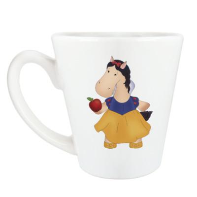 "Чашка Латте Кружка латте (360 мл) ""Лошадка Белоснежка"""