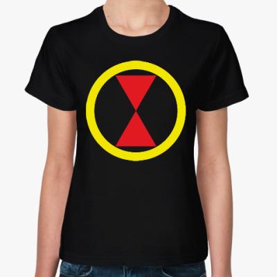 Женская футболка Черная Вдова (Black Widow)