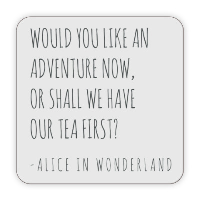 Костер (подставка под кружку) Алиса в стране чудес/ Alice in wonderland