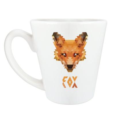 Чашка Латте Fox Pixel