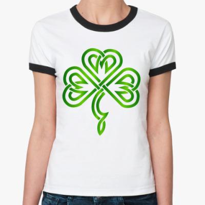 Женская футболка Ringer-T Кельтский узор