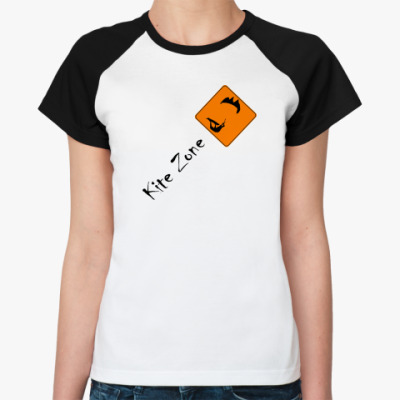 Женская футболка реглан кайт сёрф