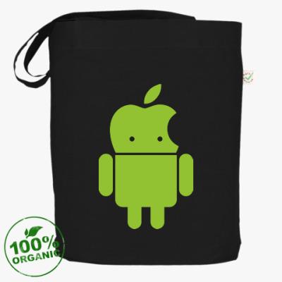 Сумка Андроид голова-яблоко