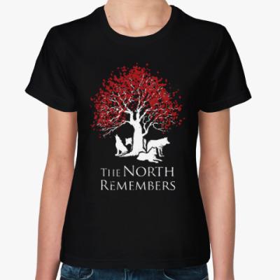 Женская футболка Игра престолов.Север помнит