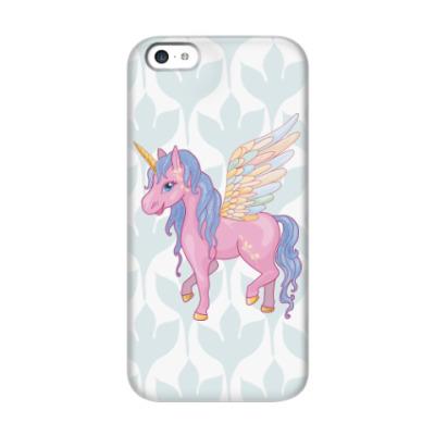 Чехол для iPhone 5c Красивый Единорог, Пегас