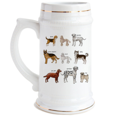 Пивная кружка собаки