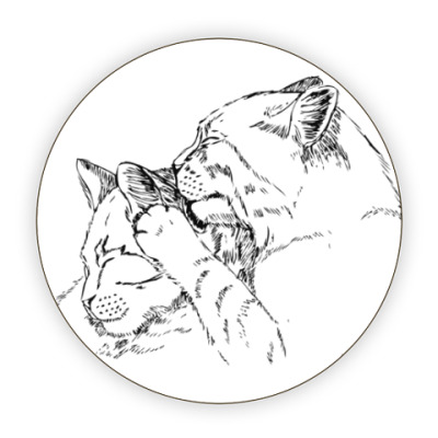 Костер (подставка под кружку) Кошачьи нежности